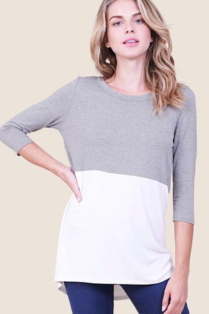 Door Buster Color Block 3/4 Sleeve Top