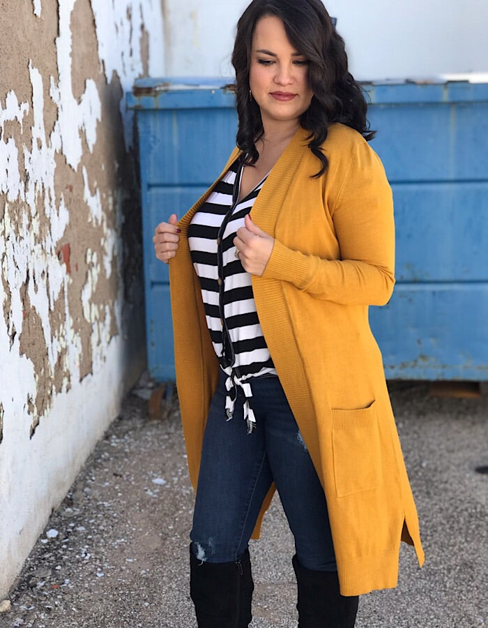 The Diana Cardigan - Mustard