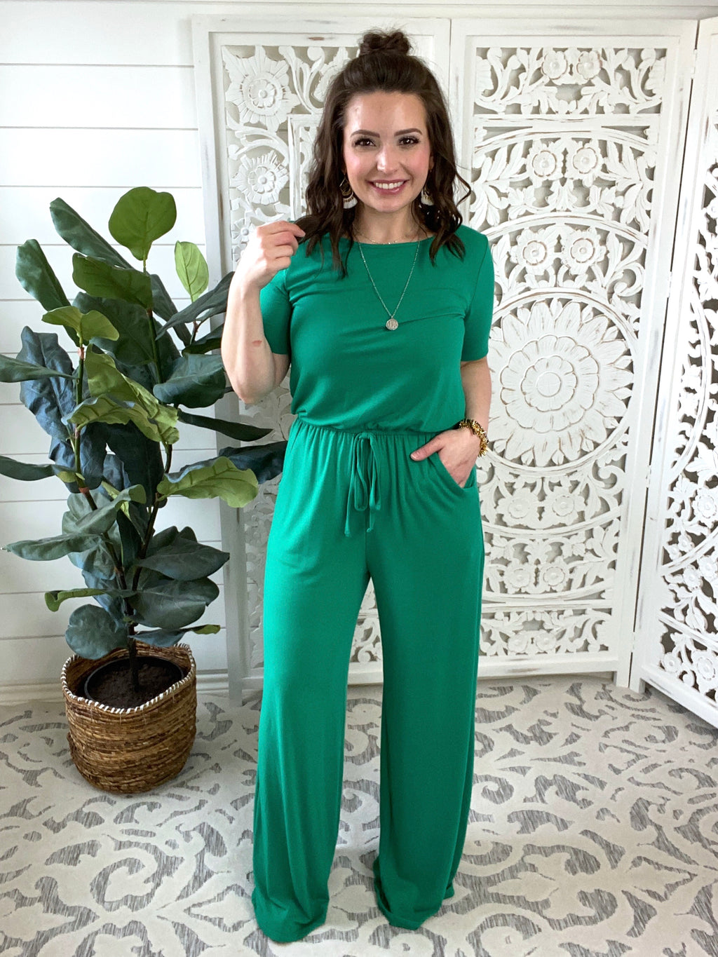 Ready For Anything Jumpsuit - Short Sleeve Option