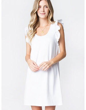 The Amelia Ruffle Sleeve Dress