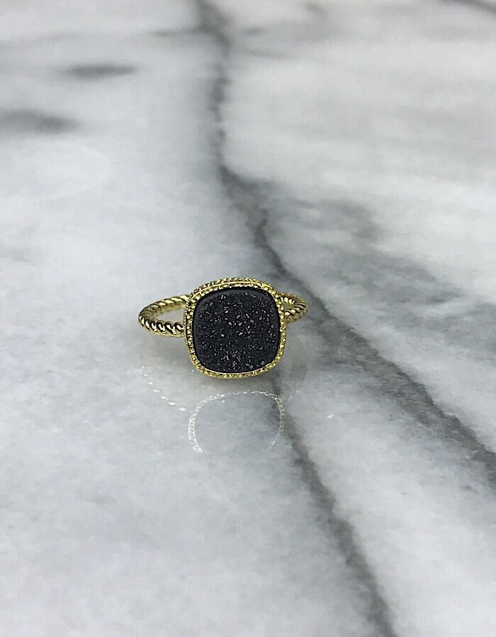 Druzy Statement Rings