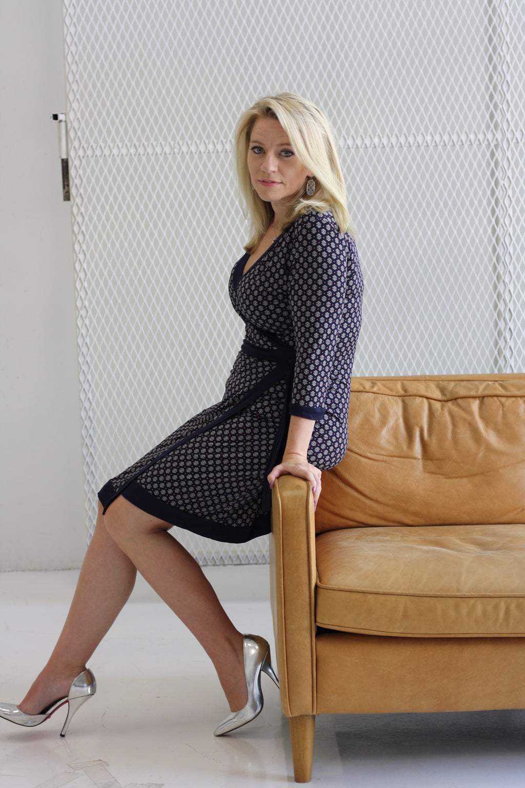 Opportunity Knocks Faux Wrap Dress