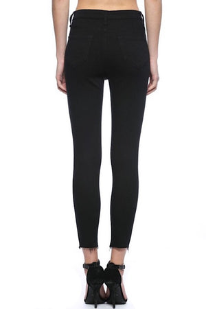 Kiki Button Fly Black Skinny Jeans