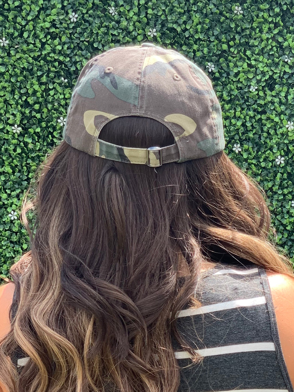 Distressed Camo Baseball Cap