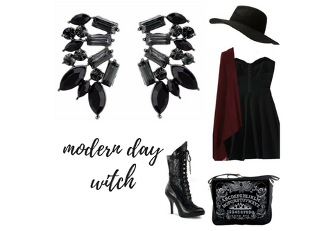 Wings of Smoke, All Black Earrings, Class Act, Modern Day Witch