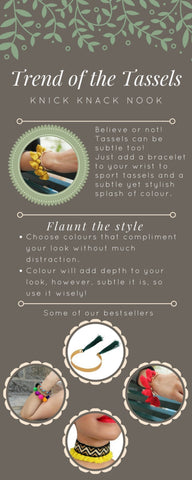 styling tassels as bracelets