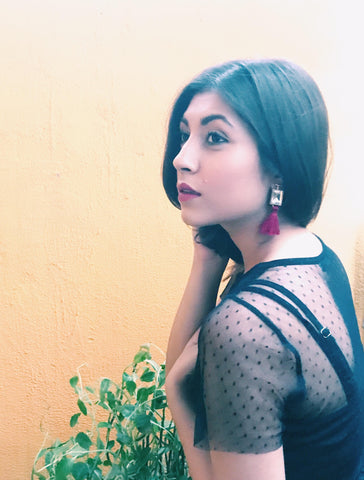 Upalina Gupta in Tassels Earring