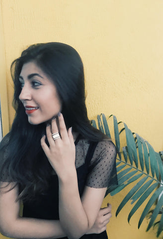 white finger ring Upalina Gupta