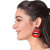 ThatBohoGirl In Knick Knack Nook Hotlips Earrings - Quirky Acrylic Lips Earrings