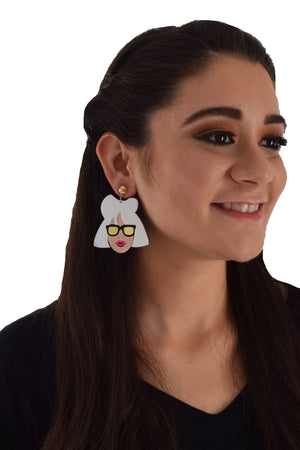 Cheap Thrills - Acrylic Face Earrings