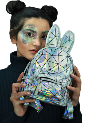Constellation - Holographic Silver - Mini Bagpack