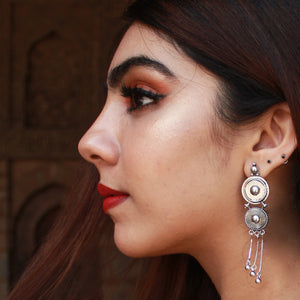 Amori - Oxidized Silver Earrings