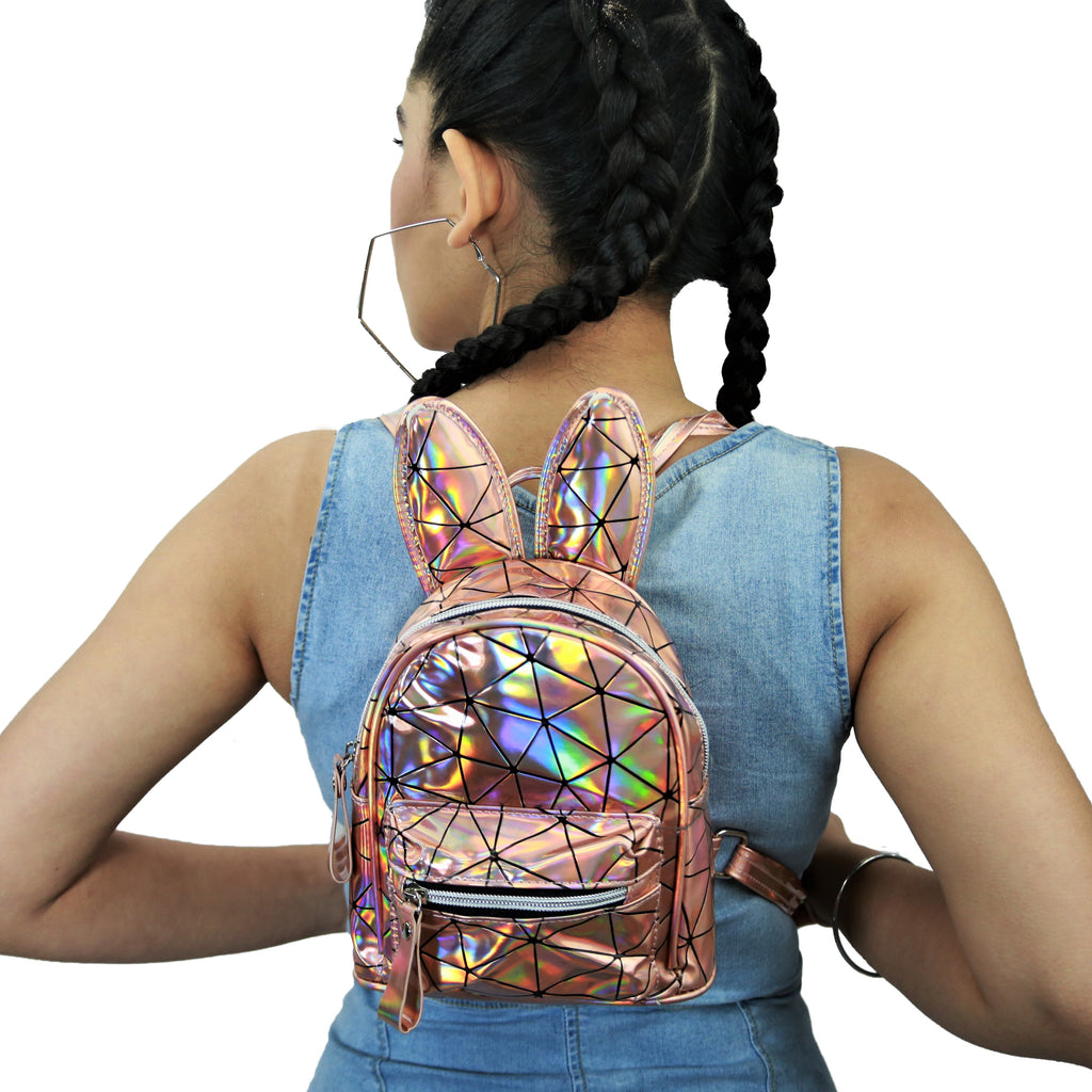 Constellation - Holographic Bronze - Mini Bagpack