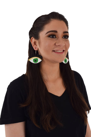 Green Eyes - Acrylic Earrings