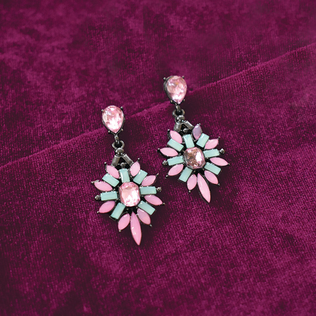 Schnapps - Pink - Crystal Earrings