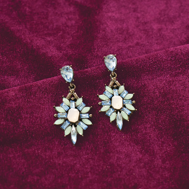 Schnapps - Blue - Crystal Earrings