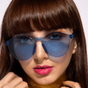 Eye Candy - Blue - Round Colourful Translucent Frame Sunglasses