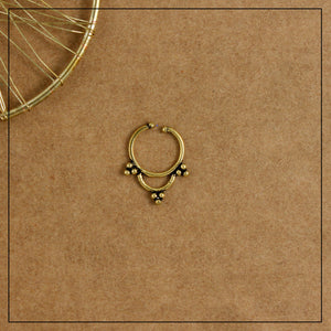 Triveni Septum Ring- Golden