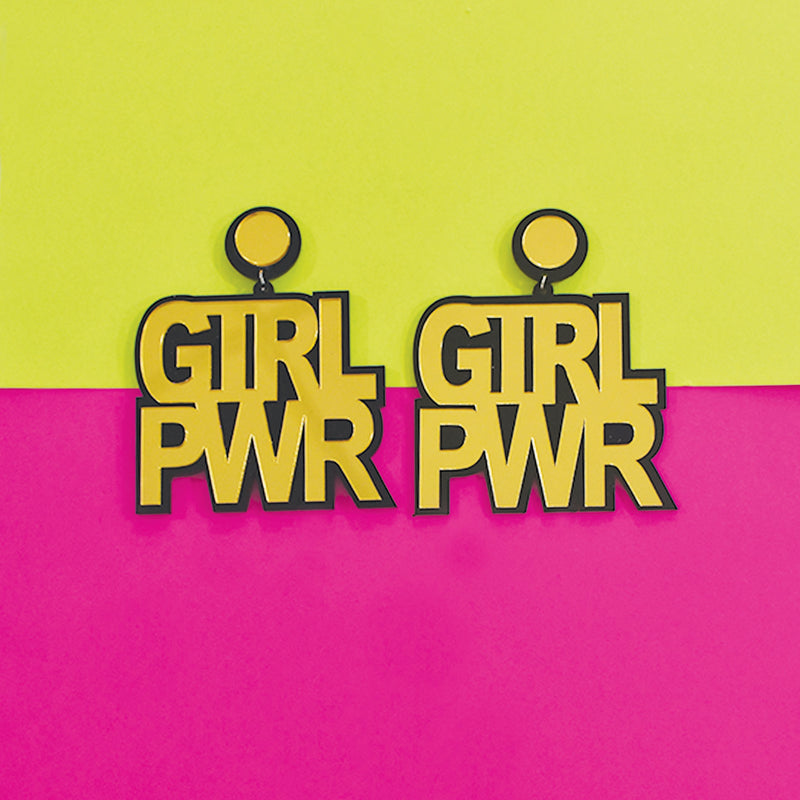 Girl Power - Acrylic Earrings