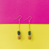 Ananas - Metal Chain Pineapple Dainty Earrings