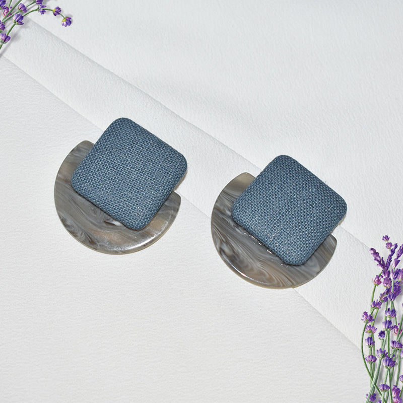 Denim & Dew - Chic Stud Drop Earrings