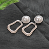 Kate Silver - Metal Earrings with Pearl