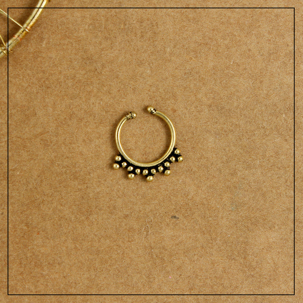 Chakra Septum Ring- Golden