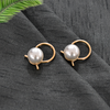 Lilly Gold - Metal and Pearl Earrings