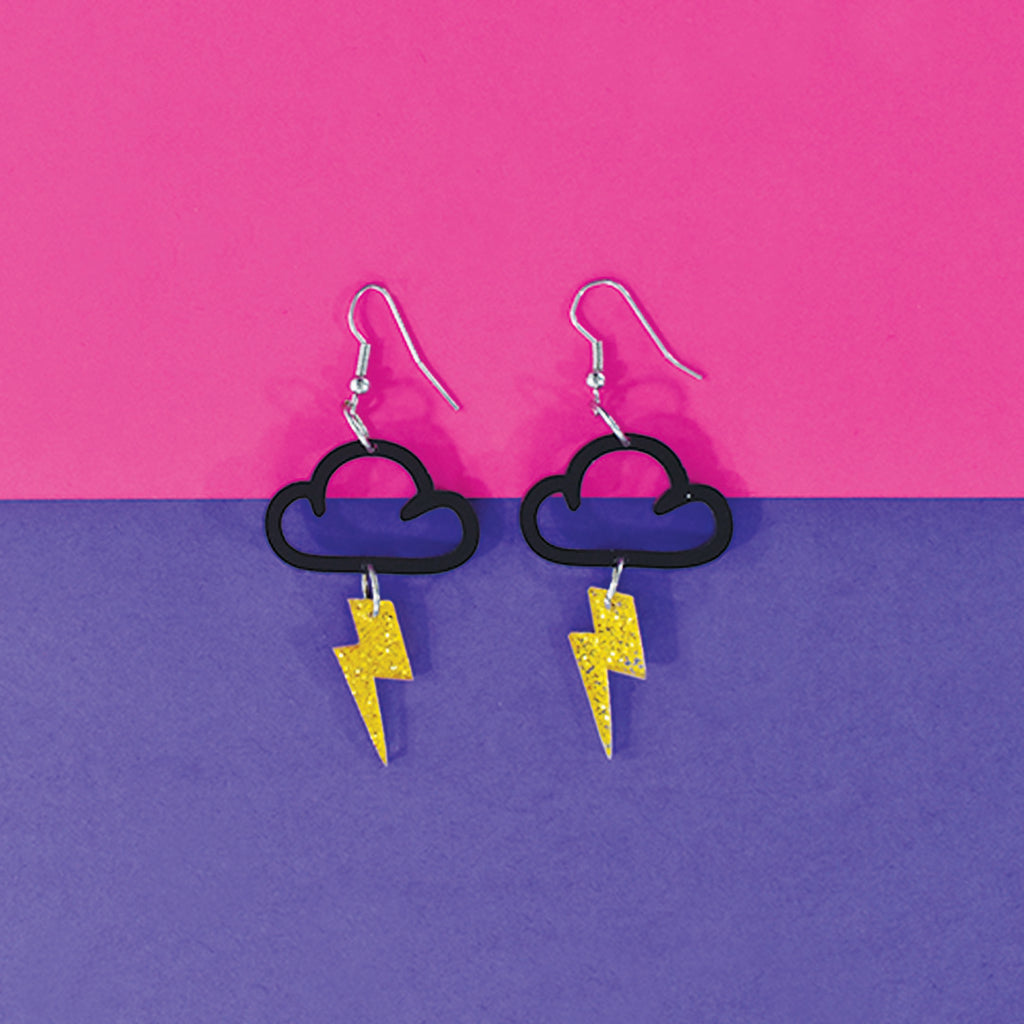Lightening Struck - Acrylic Earrings
