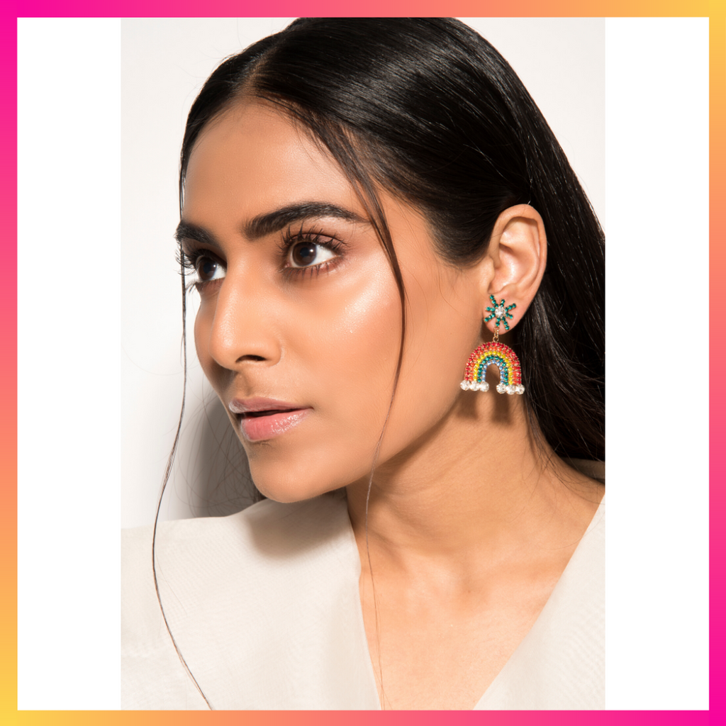 Love Is Love Earrings - Multicoloured, Rainbow Earrings