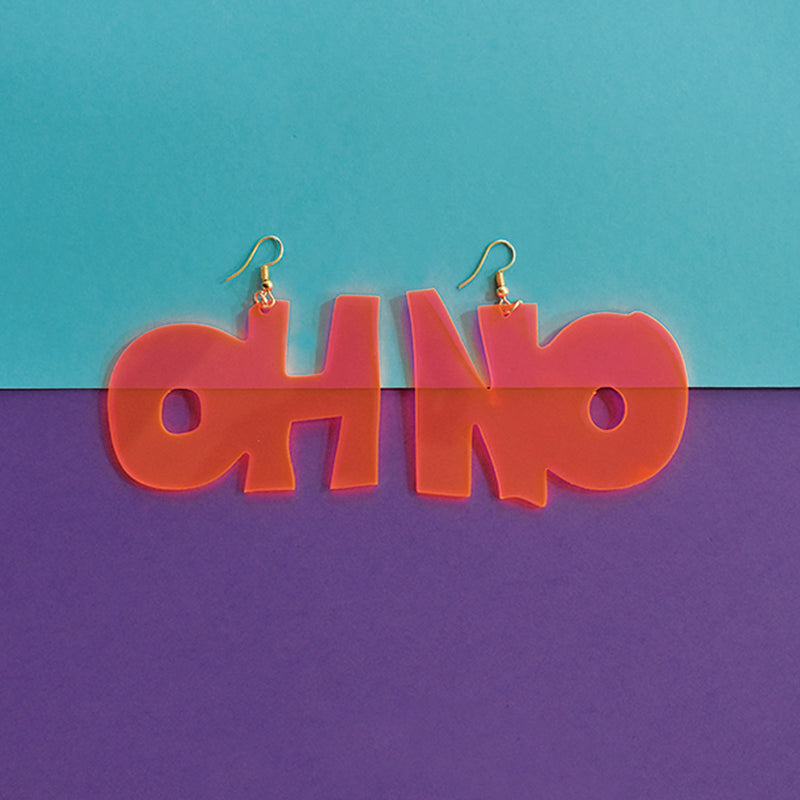 Oh No Earrings - Quirky Acrylic Earrings