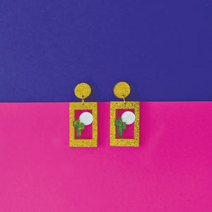Cactus - Acrylic Earrings