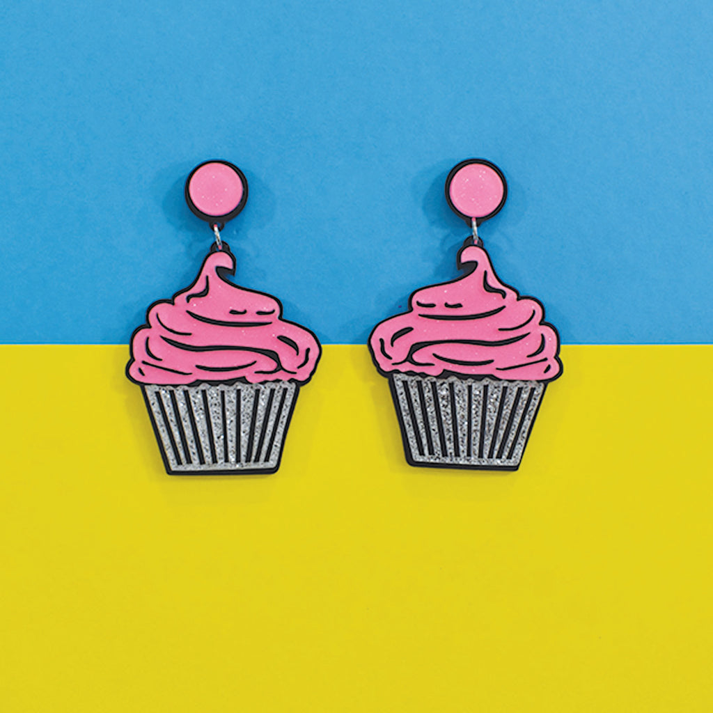 Karishma Yadav's Strawberry Cupcake - Acrylic Earring
