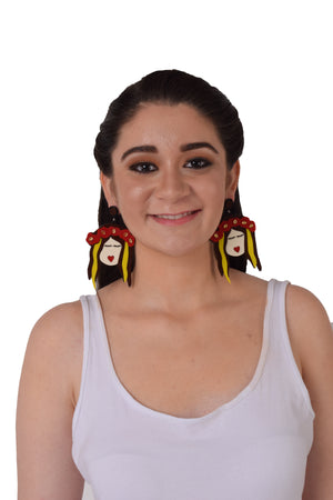 Frida Freespirited- Sunny - Acrylic Earrings