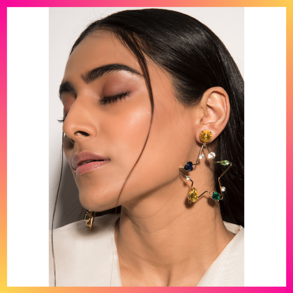 You're My Star - Multicoloured Star Earrings