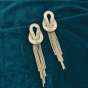 Kamikaze - Gold - Metal Tassel Earrings