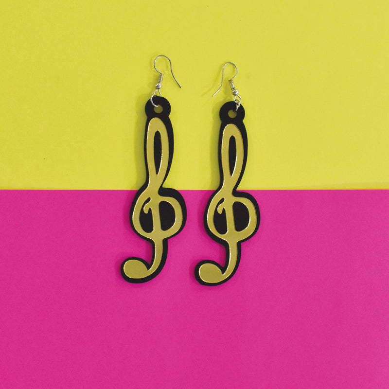 Octaves - Quirky Acrylic Music Notes Earrings
