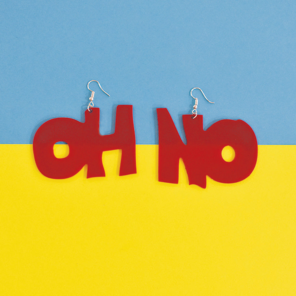Richa Chadha's Oh No! (Red) - Acrylic Earrings