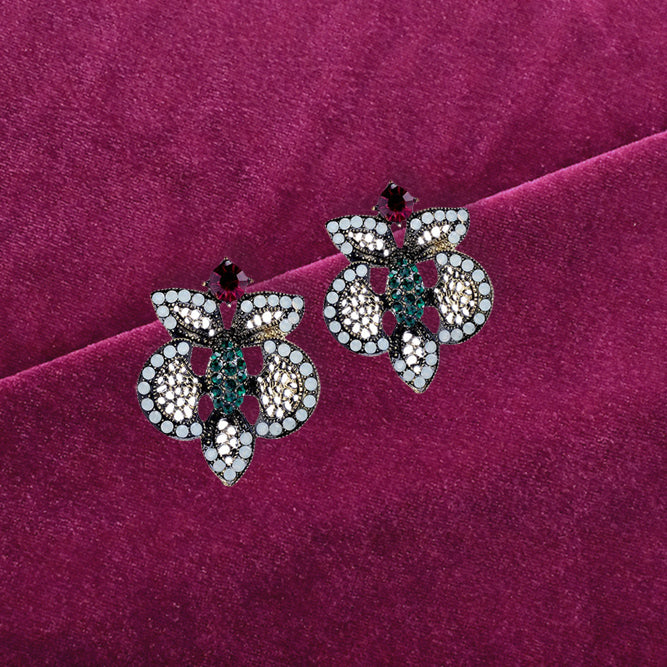 Gimlet - Butterfly Stone Earrings