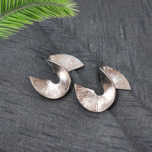 Rosie - Silver Spiral metal Earrings