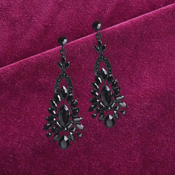 Dirty Martini - Classy Black Stone Earrings