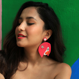 Betty Bubbleboom - Multicoloured Acrylic Face Earrings