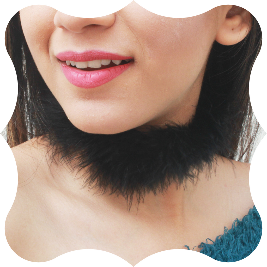 Black Magic - Fluffy Fur Choker