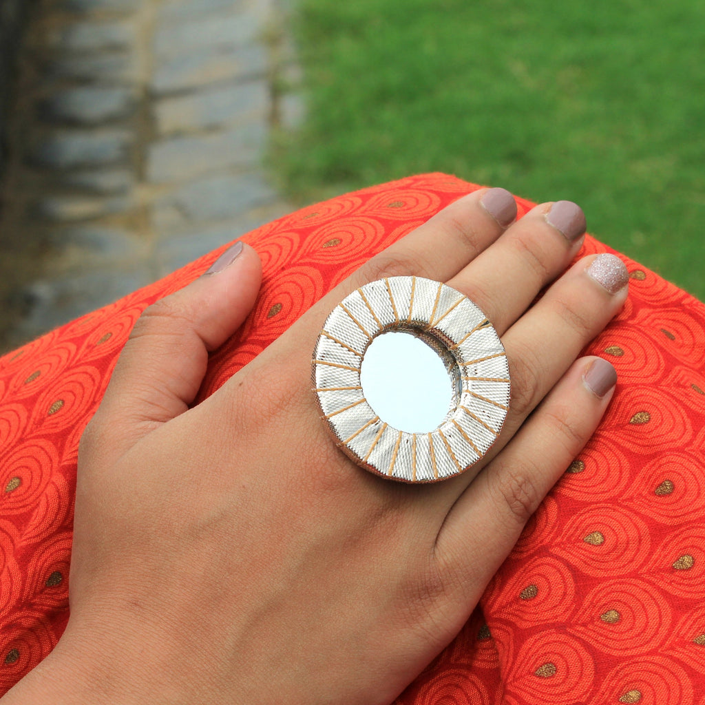 Aaina - Mirror Statement Ring