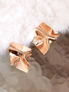 Champagne Dream -  Wrinkled Square Earrings
