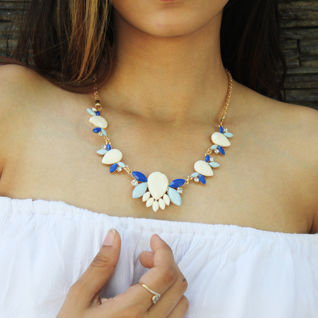 Blue Blood -Multicoloured Stone Necklace
