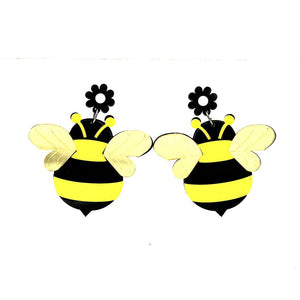 Buzz Buzz - Honey Bee Acrylic Earrings