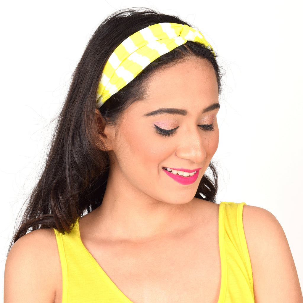 Citrus Stripes Interlinked Headband