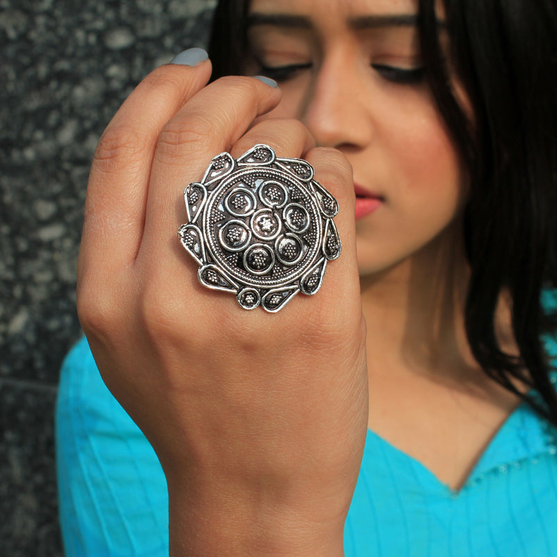 Chakri - Silver Statement Ring