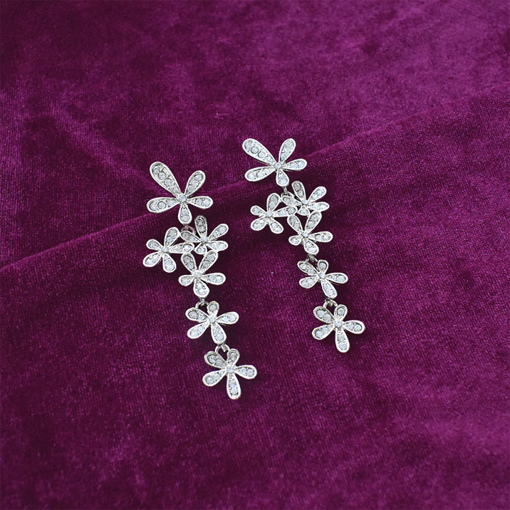 Gin Fizz - Studded Floral Earrings